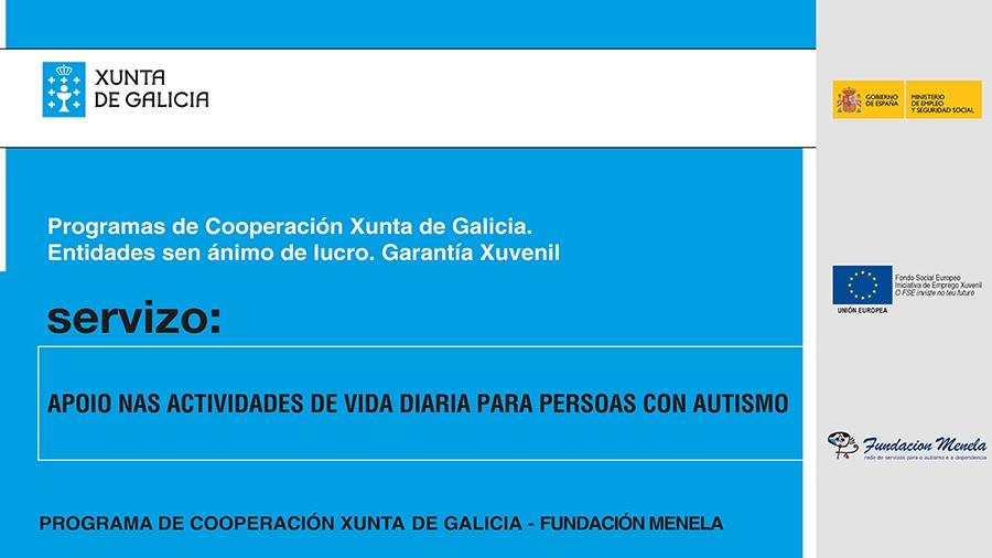 Apoio nas actividades de vida diaria para persoas con autismo. Programa Operativo de Emprego Xuvenil 2018