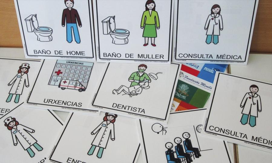 Fundación Menela incorpora 35 pictogramas á sinaléctica do Centro de Saúde Val Miñor