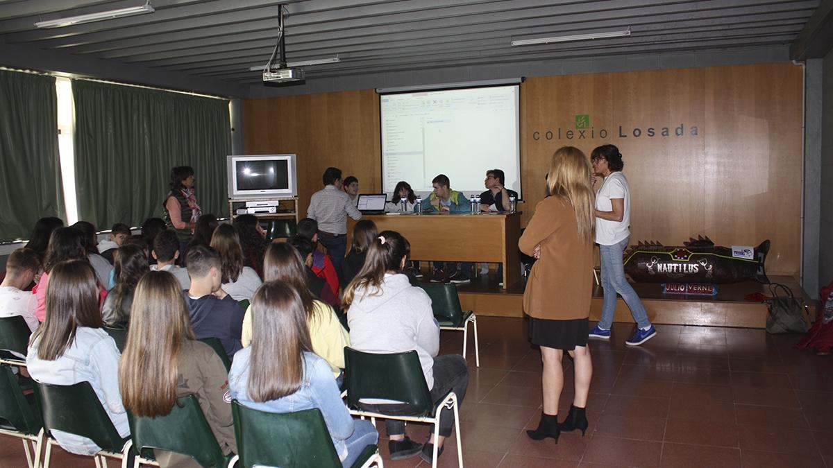 O Centro Educativo Menela constrúe o seu nautilus e o comparte có Colexio Losada de Vigo